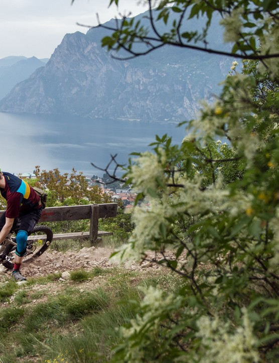 I rode the new helmet at the Lake Garda bike festival. It did not suck