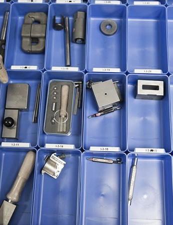 A lock-builder's tool box