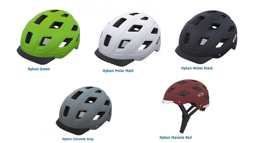 For the Hyban, five colors are available in Medium and Large sizes. Black is also offered in X-Large