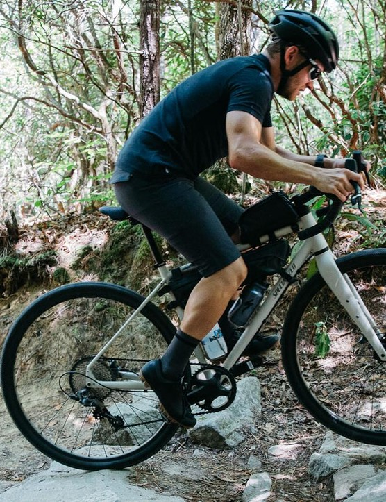 The Sequoia can handle a wide range of terrain. The bike's Sawtooth tires do a surprisingly good job of finding grip, despite their lack of knobs