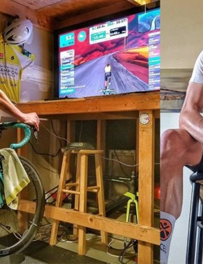 Adam Zimmerman races road, track and mountain bikes - outside - but has also been racing inside since Zwift began