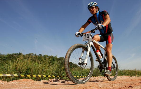 US national champion Adam Craig at the Pan-Am Games, July 2007. Craig is one of the few riders to be