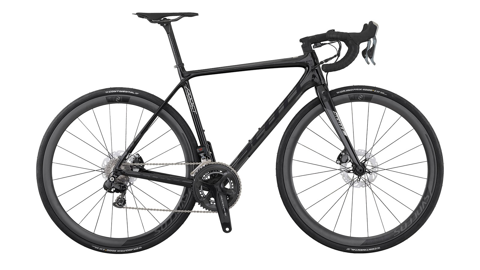 The Addict Premium Disc's frame and fork are made with Scott's highest-grade carbon and are claimed to weigh only 60g more than the rim brake version. The weight of the complete build is yet to be announced