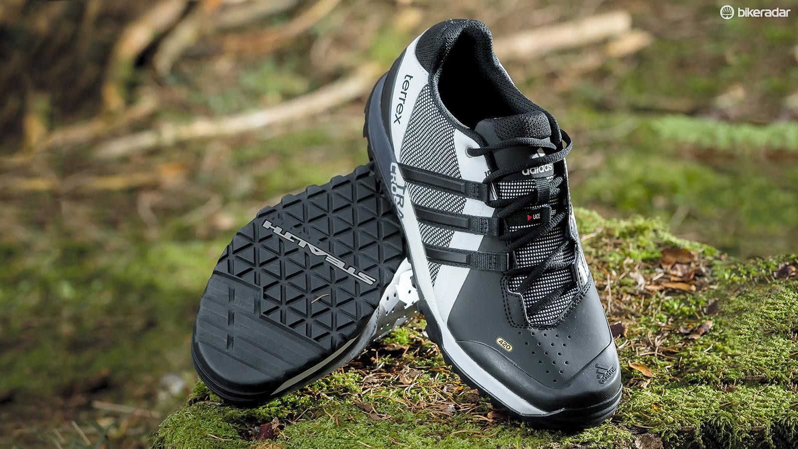 Adidas' Terrex Trail Cross MTB shoes may not be the toughest kicks out there but are a pleasure to wear