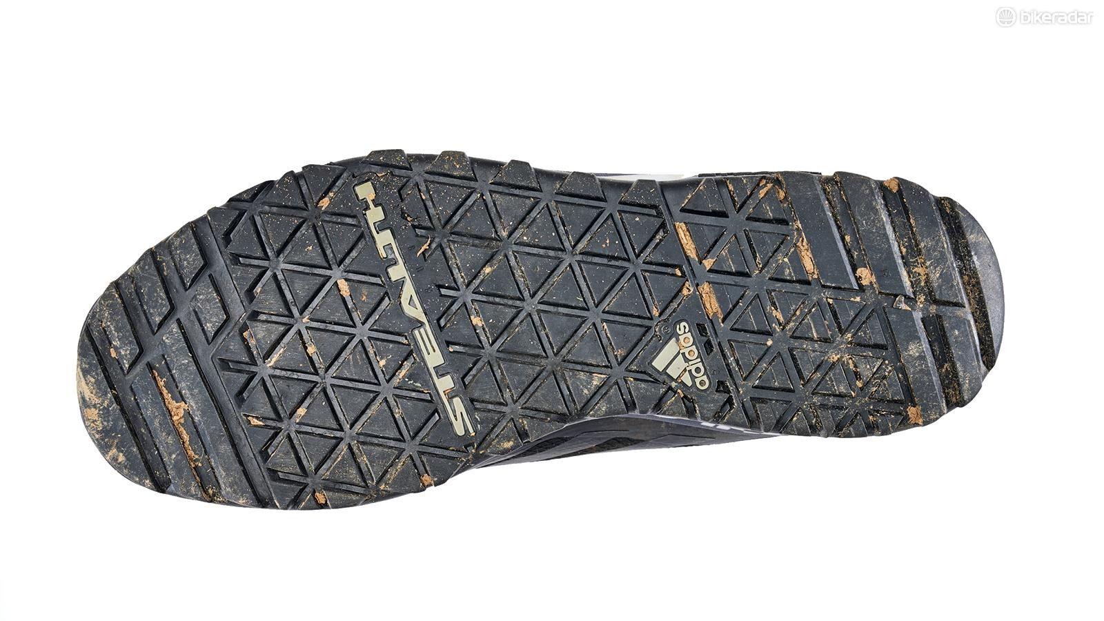 The sole uses the same Stealth rubber compound that's found on Five Tens