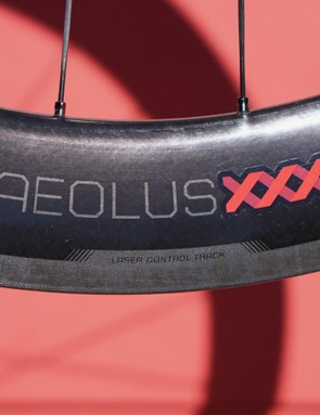Bontrager uses a new laser-etching system for a texture brake track, which makes for predictable and quiet braking