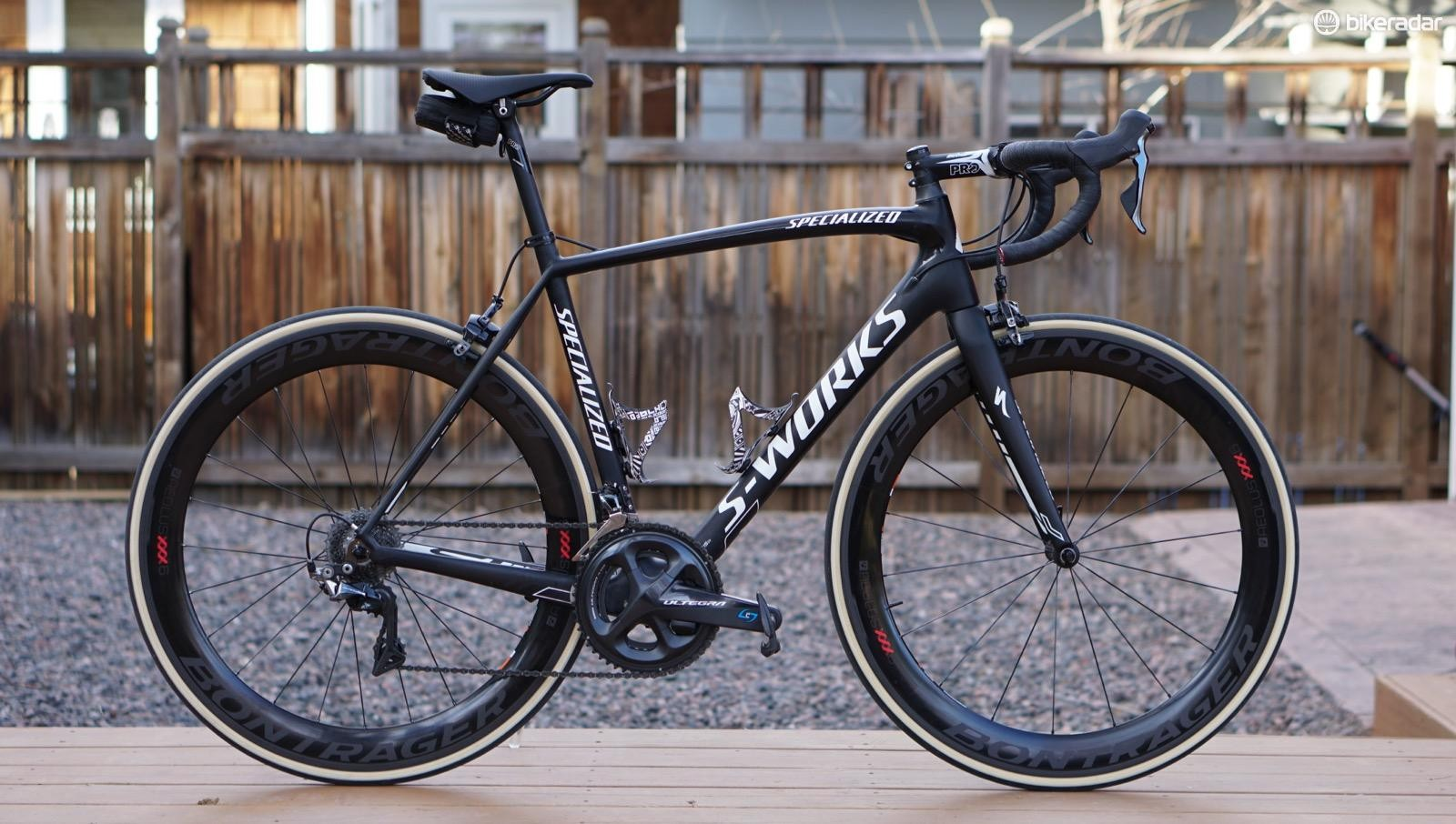 I tested the Aeolus XXX 6 on two bikes, including this ~2012 Specialized Tarmac