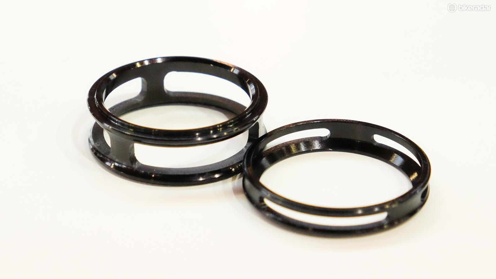 There are additional weight savings to be had with these barely-there spacers