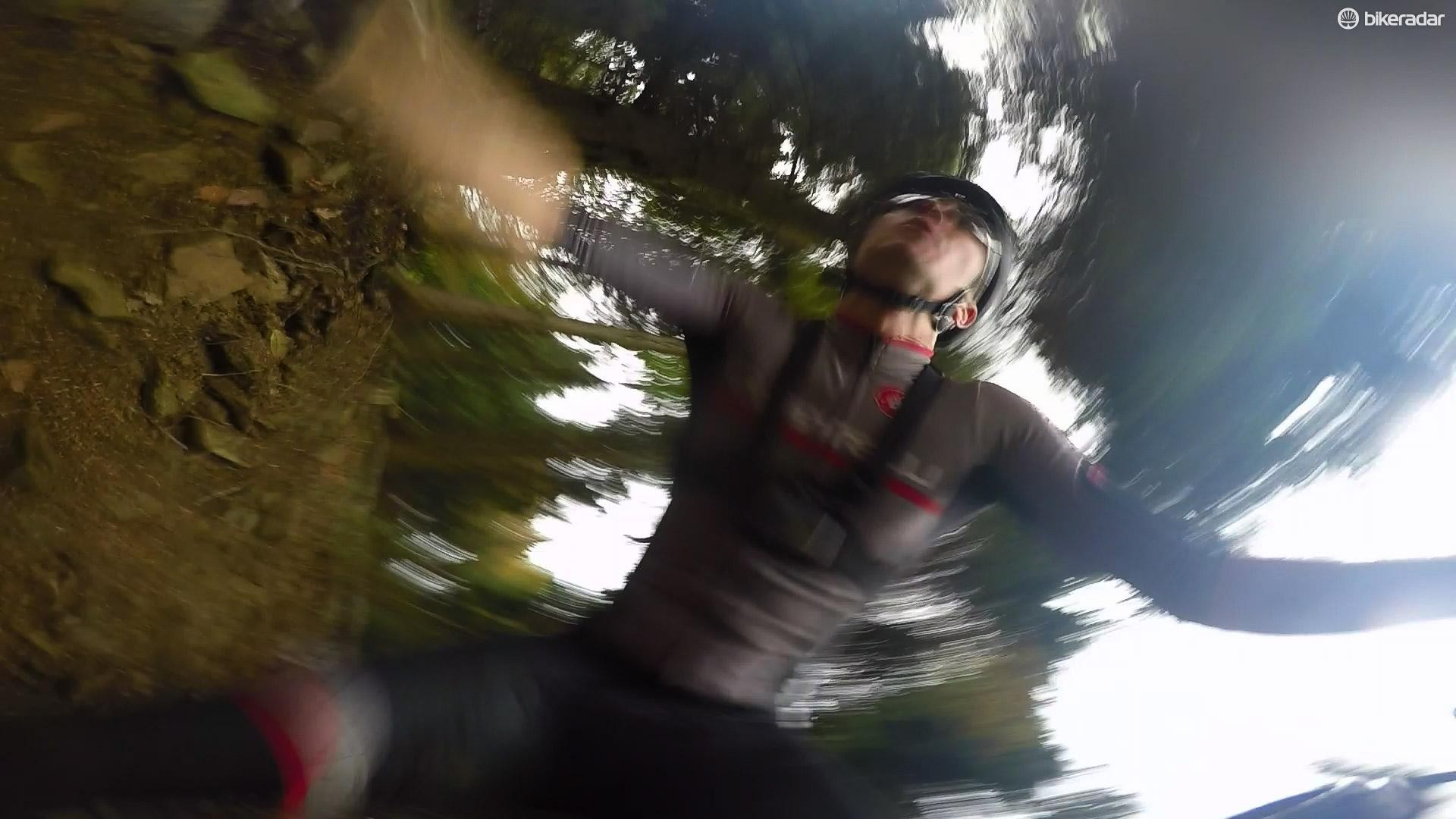 One downside of skinsuits — it hurts more when you crash
