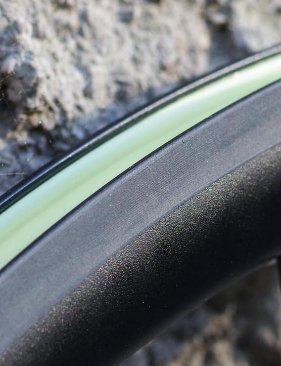 The ceramic braking surface is intriguing