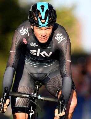 Chris Froome has been riding the full Shimano Dura-Ace Di2 9150 groupset at the Herald Sun Tour