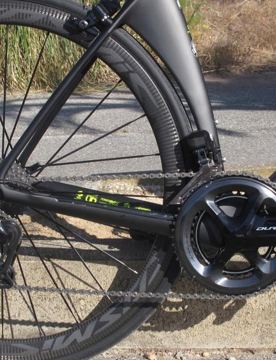 The Mavic Cosmic Pro Carbon wheels come with 25mm Yksion Pro tyres