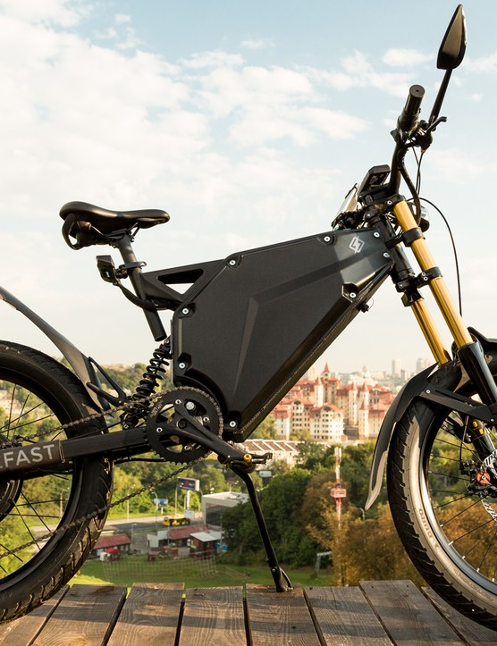Delfast's Prime is labeled as a motorbike / mountain bike hybrid