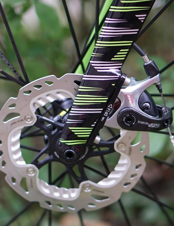 Cannondale uses TRP Spyre calipers front and rear