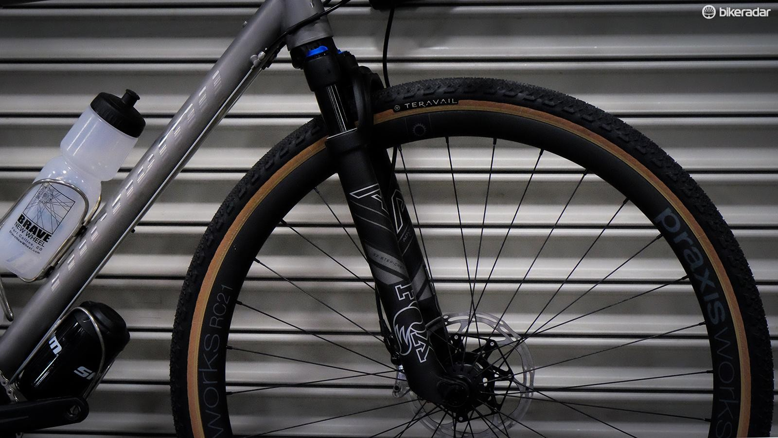 The Fox AX 'Adventure Cross' suspension fork is finally out in the open