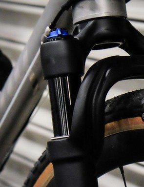 The Fox AX fork has 40mm of suspension travel