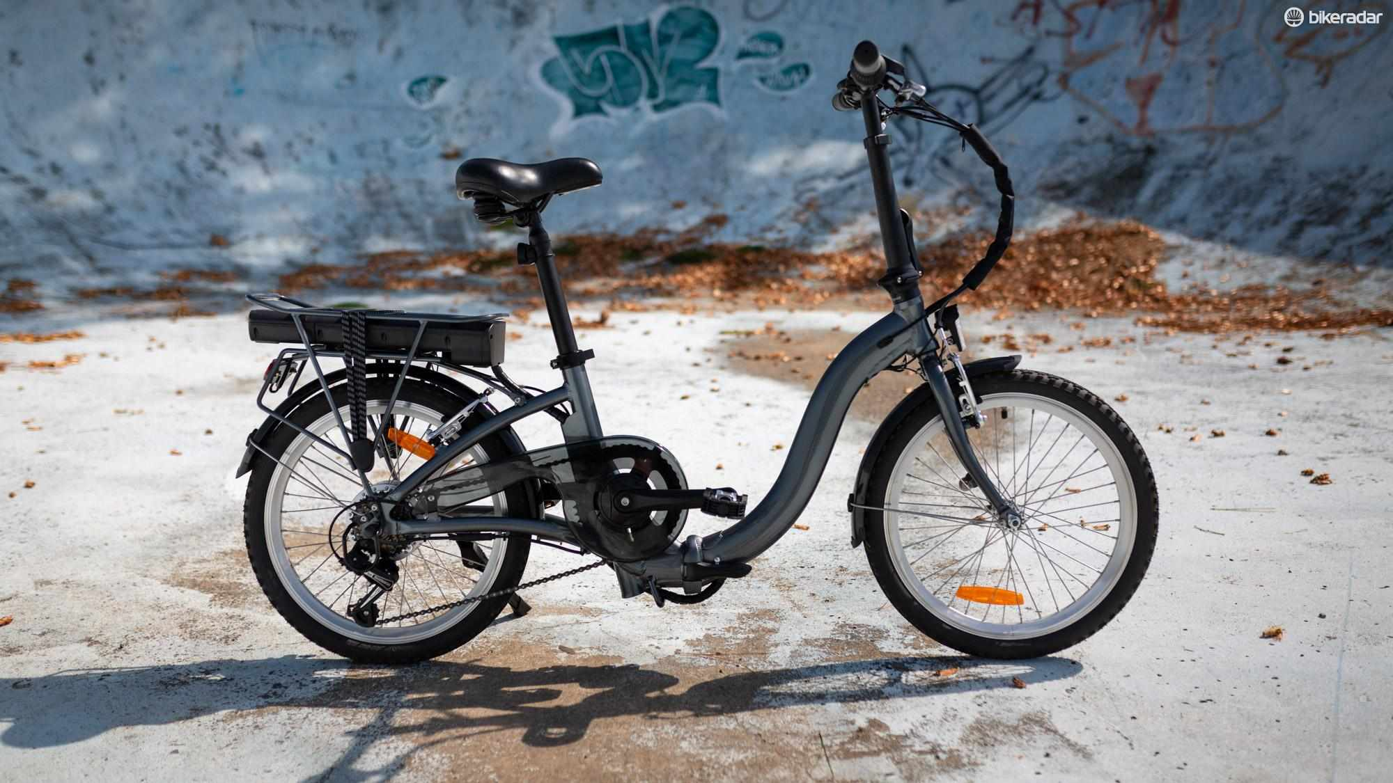 Aldi's folding e-bike in all its glory