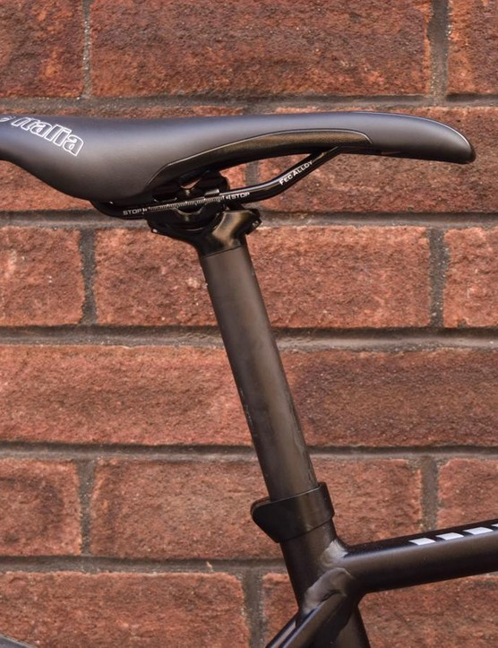 Carbon post? Check. Branded saddle? Check