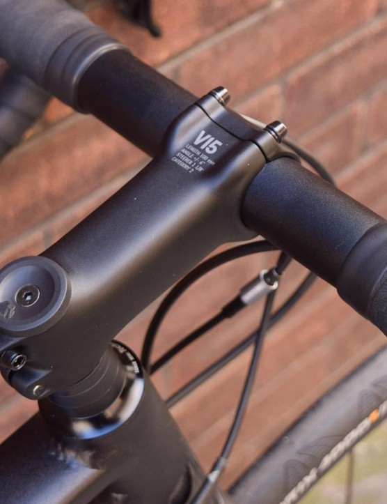 Canyon's finishing kit is understated but nicely finished
