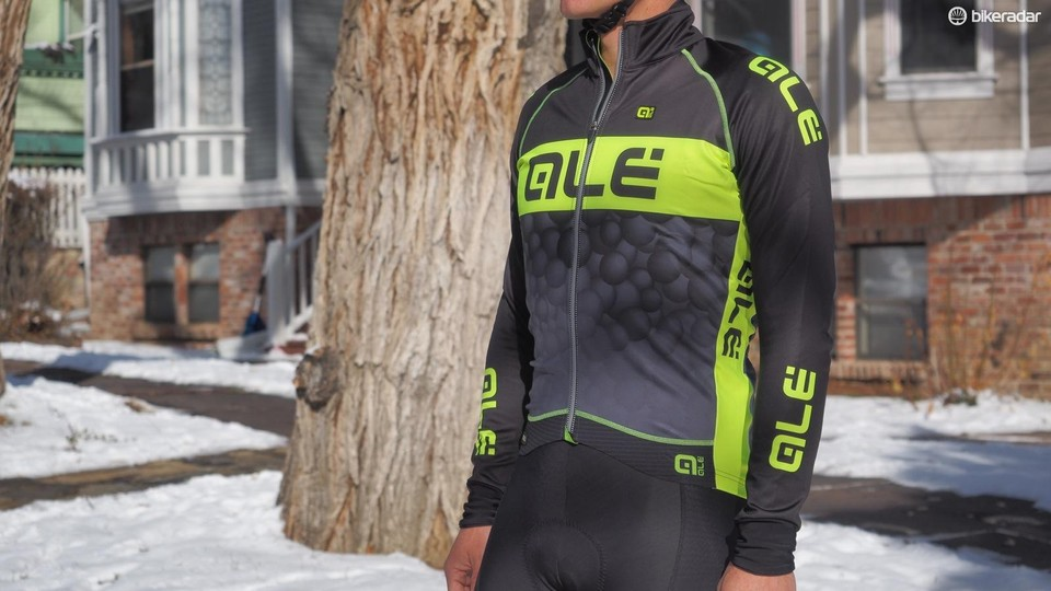 c3cb138b1193 The Alé PRR Winter Jacket uses wind block on the chest and arms over an  insulating