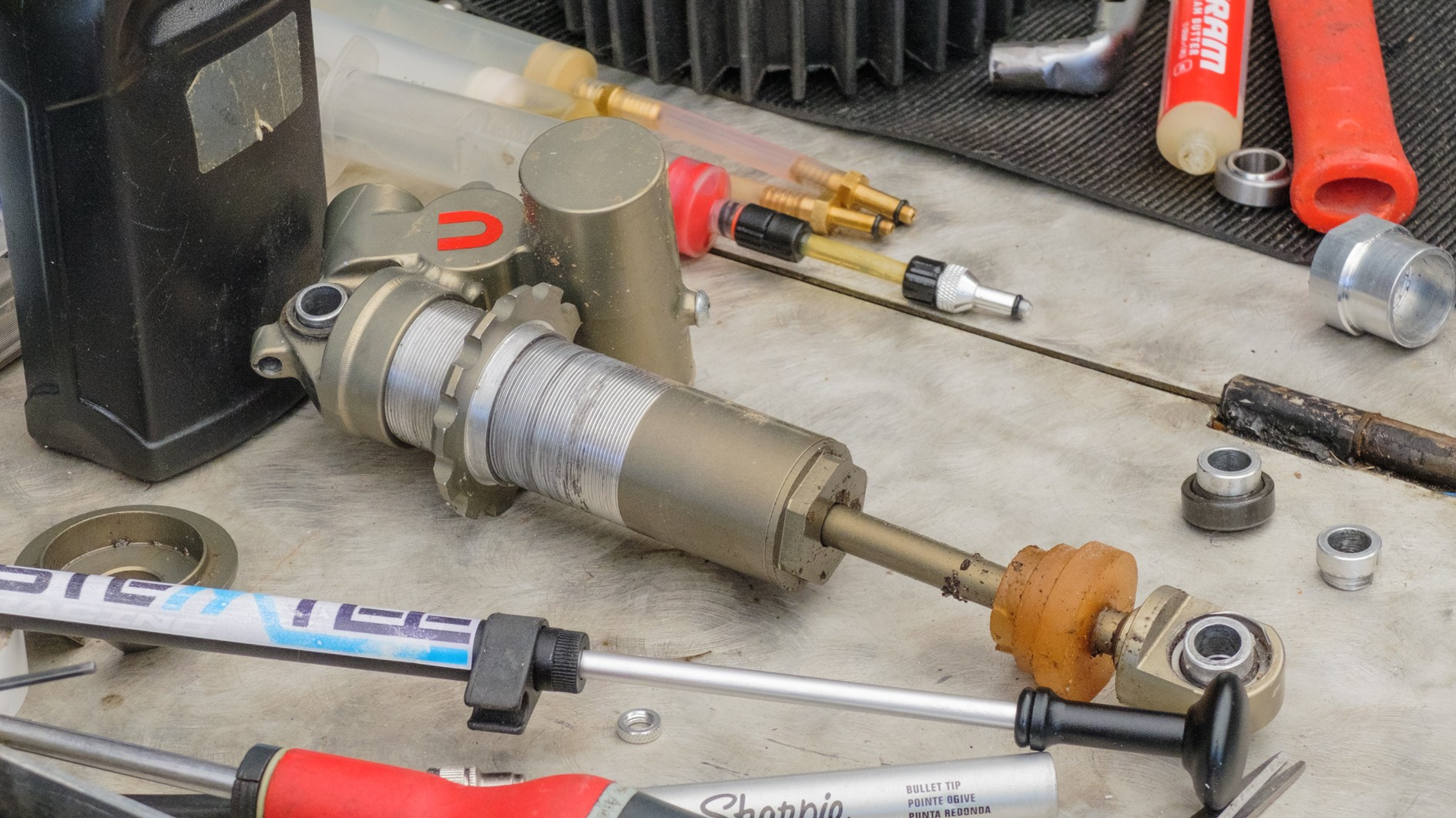 Hugues runs a fleet of the unnamed shocks for the team