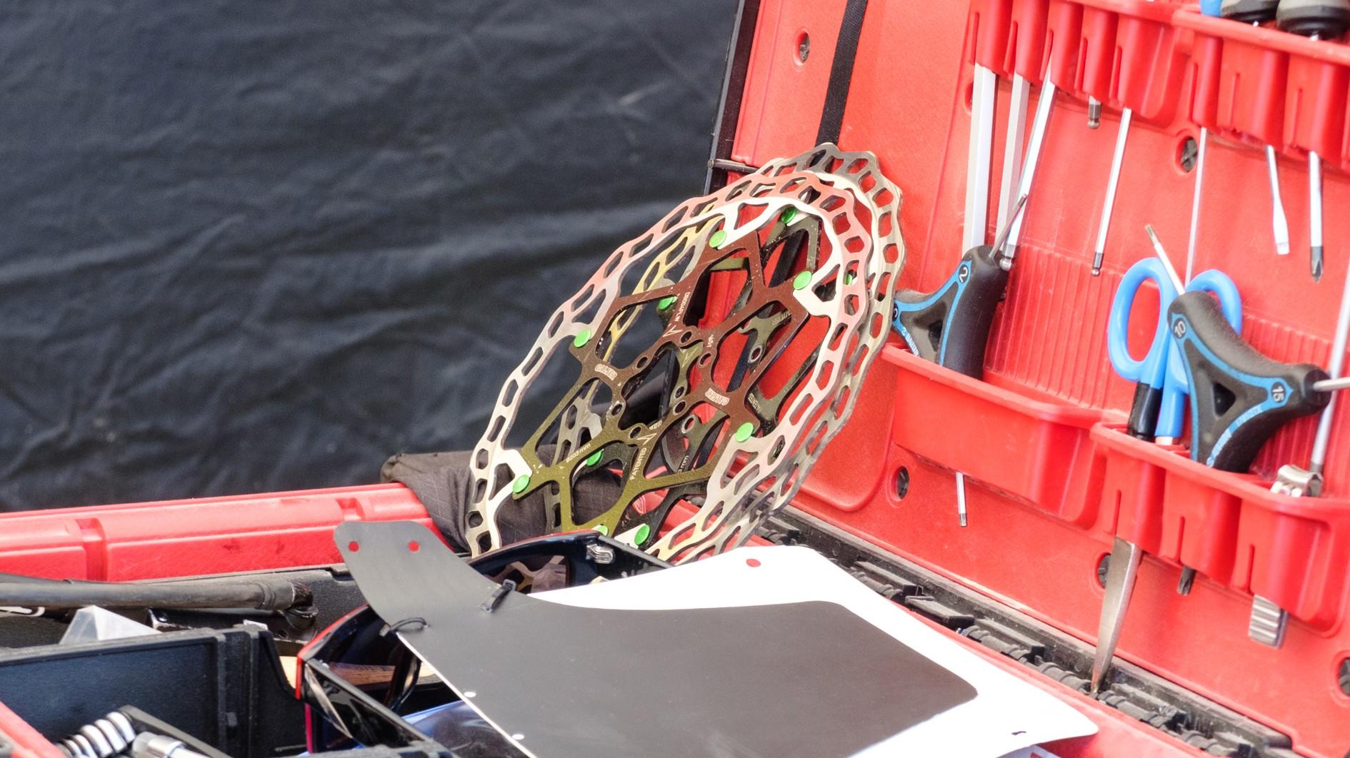 The whole team uses Trickstuff Diritessima brakes