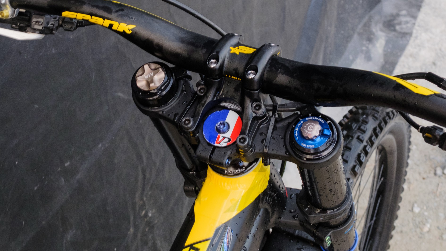 A little reminder of home for the French rider