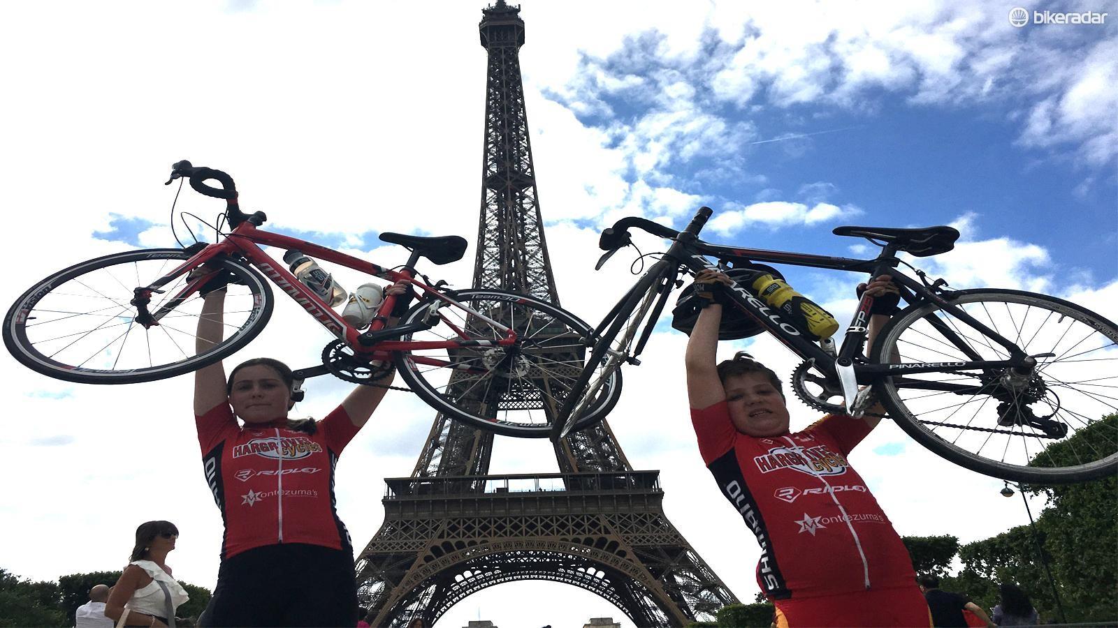 The kids are alright! Alfie and Saskia reach Paris