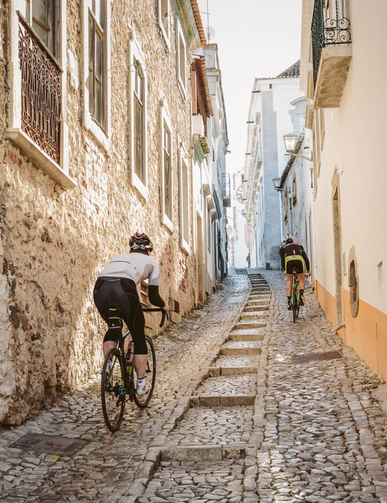 Riding the Portuguese cobbles — calçadas — requires your full and undivided attention