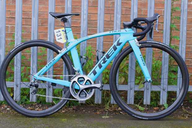Alice Barnes' Trek Madone, as used in the 2016 Aviva Women's Tour
