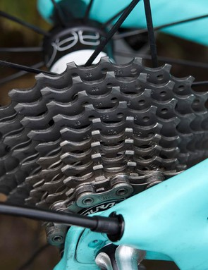 Barnes opted for an 11-28 cassette for the punchier climbs of the second stage of The Women's Tour
