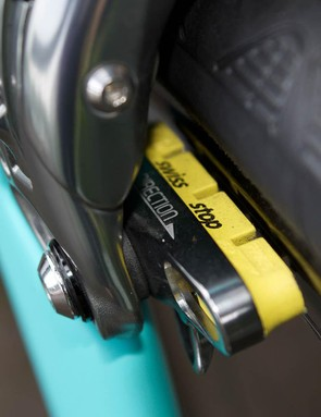 Barnes prefers the stopping powers of Swiss Stop brakepads