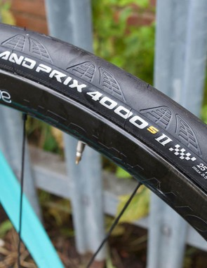 Barnes is running Continental Grand Prix 4000 tyres for the race