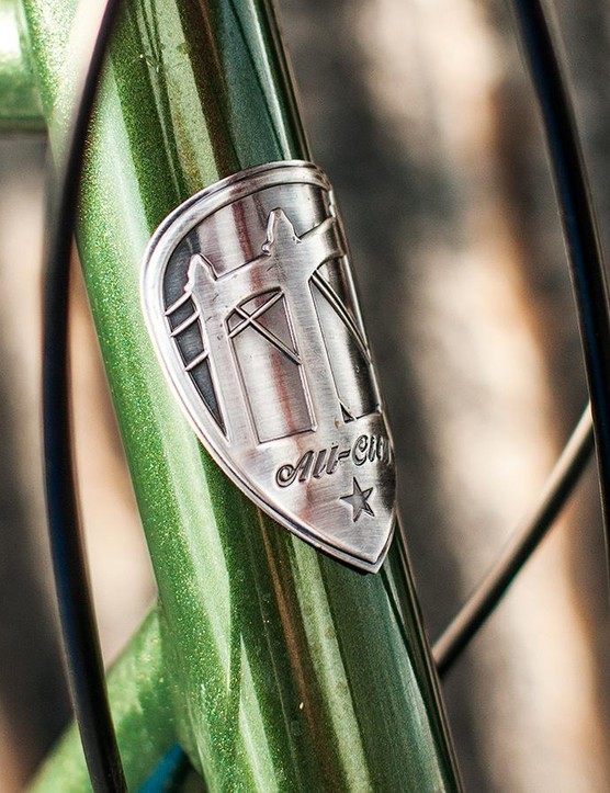 The head badge and green paint job are sophisticated affairs