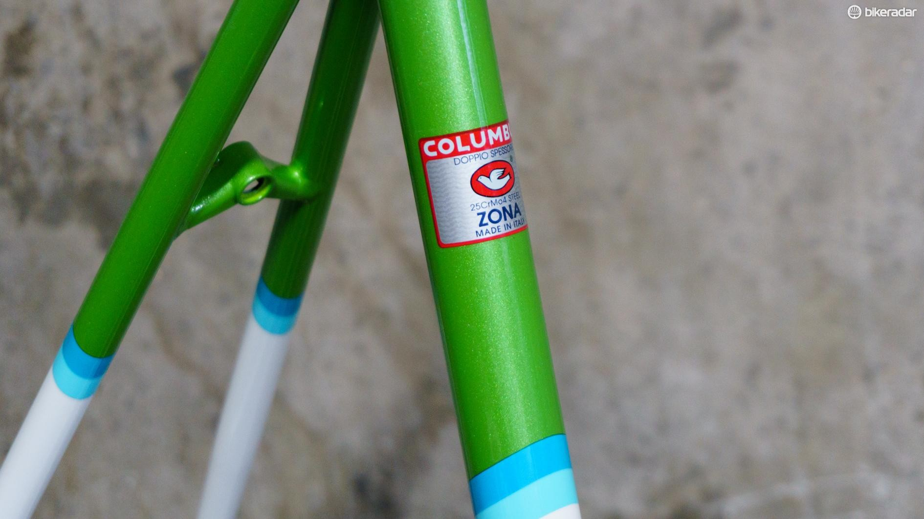 The bike is built with Columbus Zona tubing