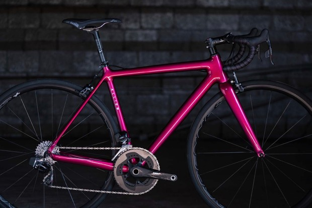 Allied's new custom Echo frameset weighs a claimed 800g and is handmade in the US