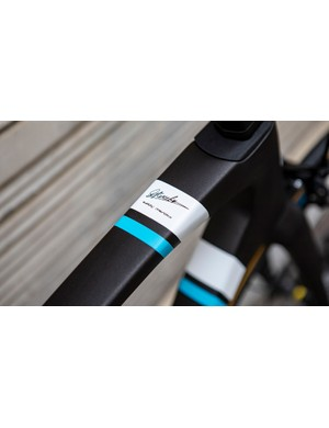 A closer look at the top tube detailing