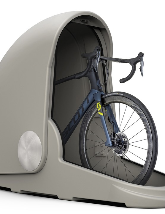 The capsule is said to work with nearly all bikes and be weather resistant and lockable