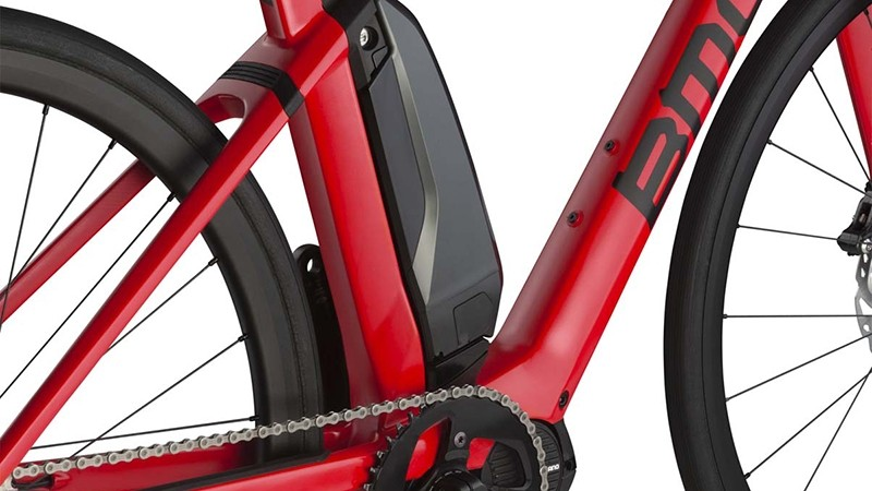BMC styled the carbon frame to integrate with the Shimano battery