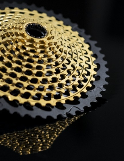 The new 12-speed cassette gets a huge 10-50t gear spread for a 500% range, equalling many double setups