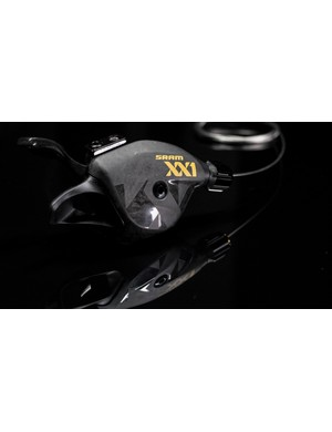 The XX1 shifter gets a carbon lever and cover to help shave an extra few grams