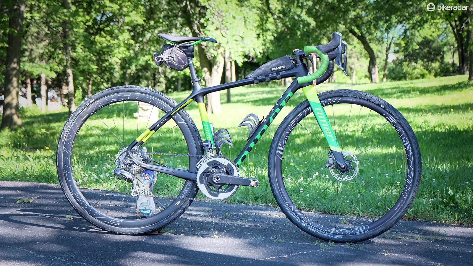 Nauman rides a size 47 BSB 9 RDO