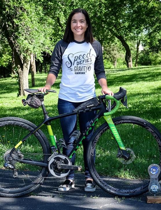Amanda 'Panda' Nauman with her gravel-grinding Niner BSB 9 RDO