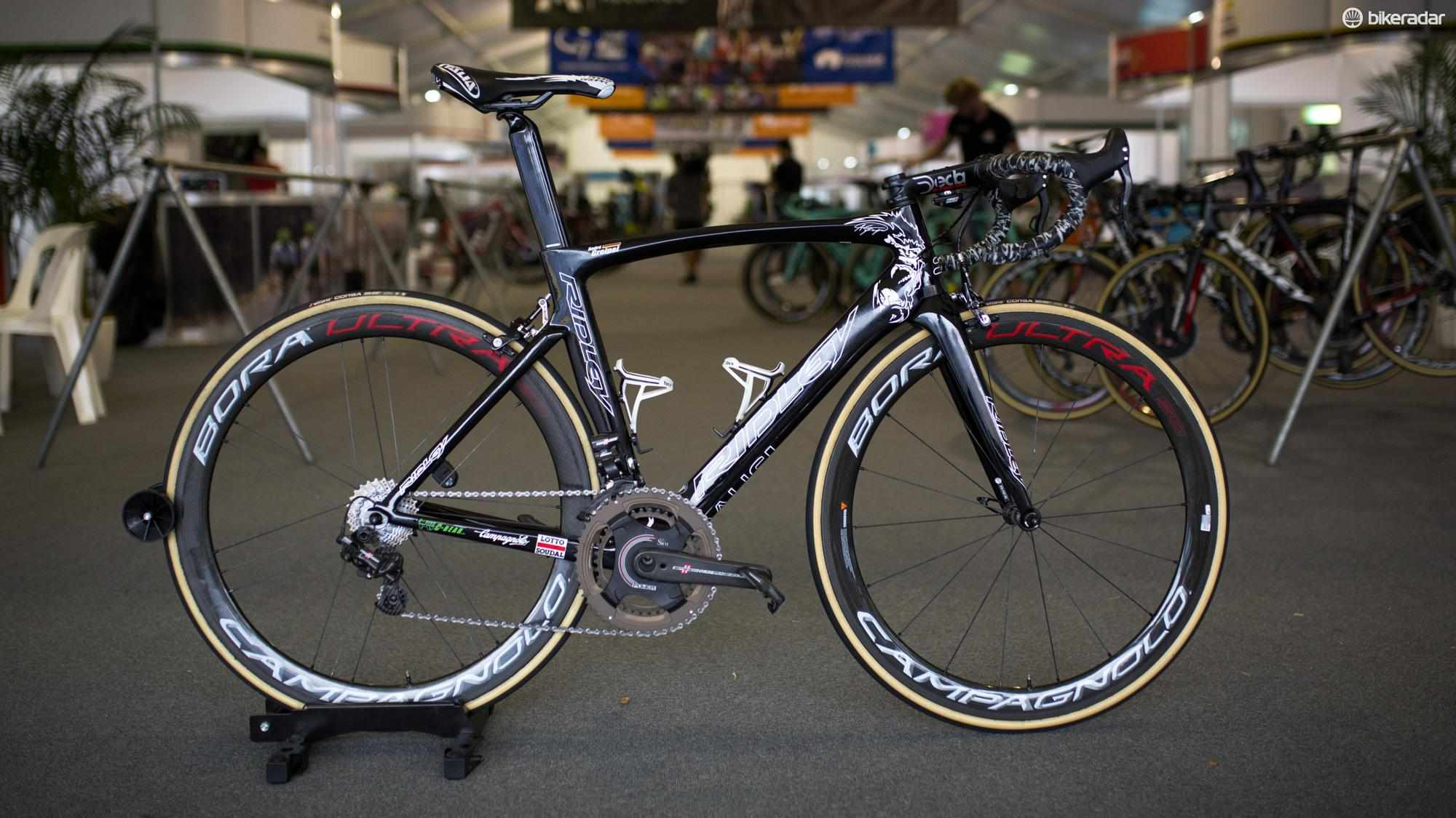 It's no surprise to see Andre Greipel opt for the Ridley Noah SL over the Helium SLX