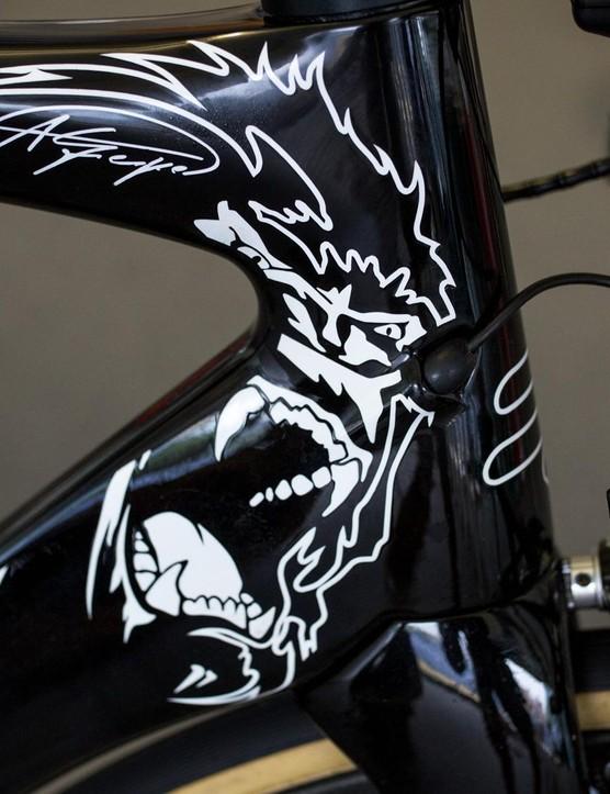 As far as custom bikes go, Andre Greipel's is pretty tame