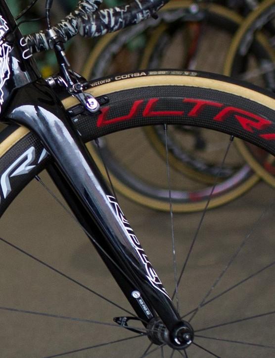 The fork on Greipel's race bike isn't the brand's F-split fork