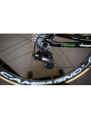 We'd guess this Super Record EPS derailleur spends a lot of time in the 11t cog