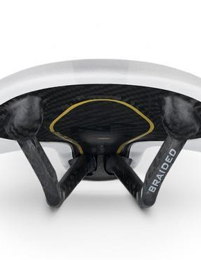 The saddle also has a full carbon double shell