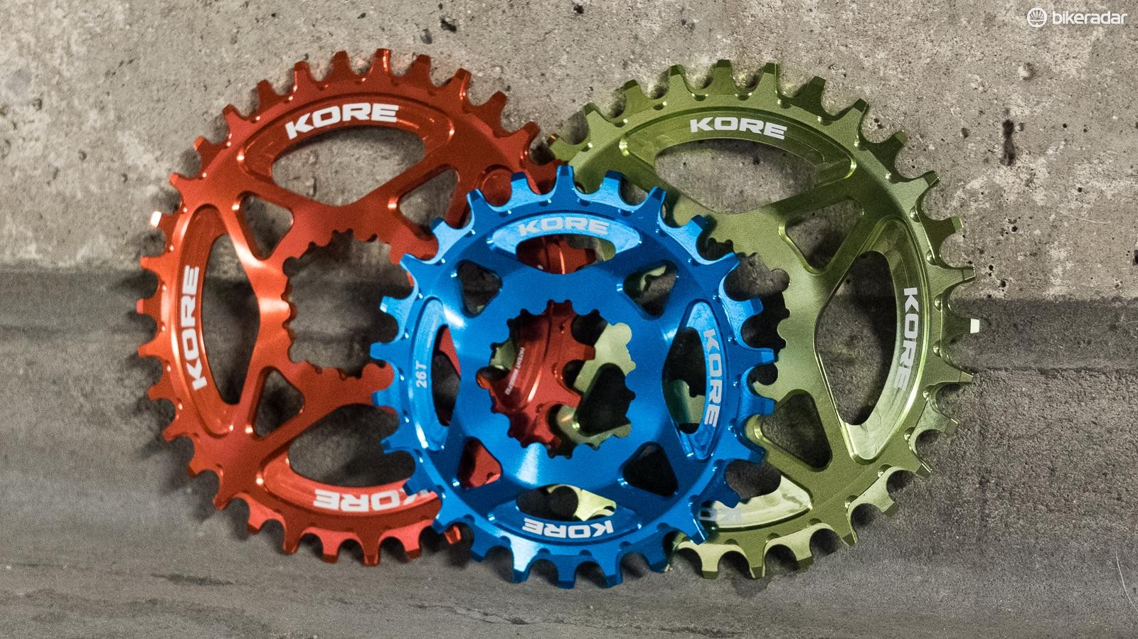 Kore claims the narrow/wide tooth design improves chain retention