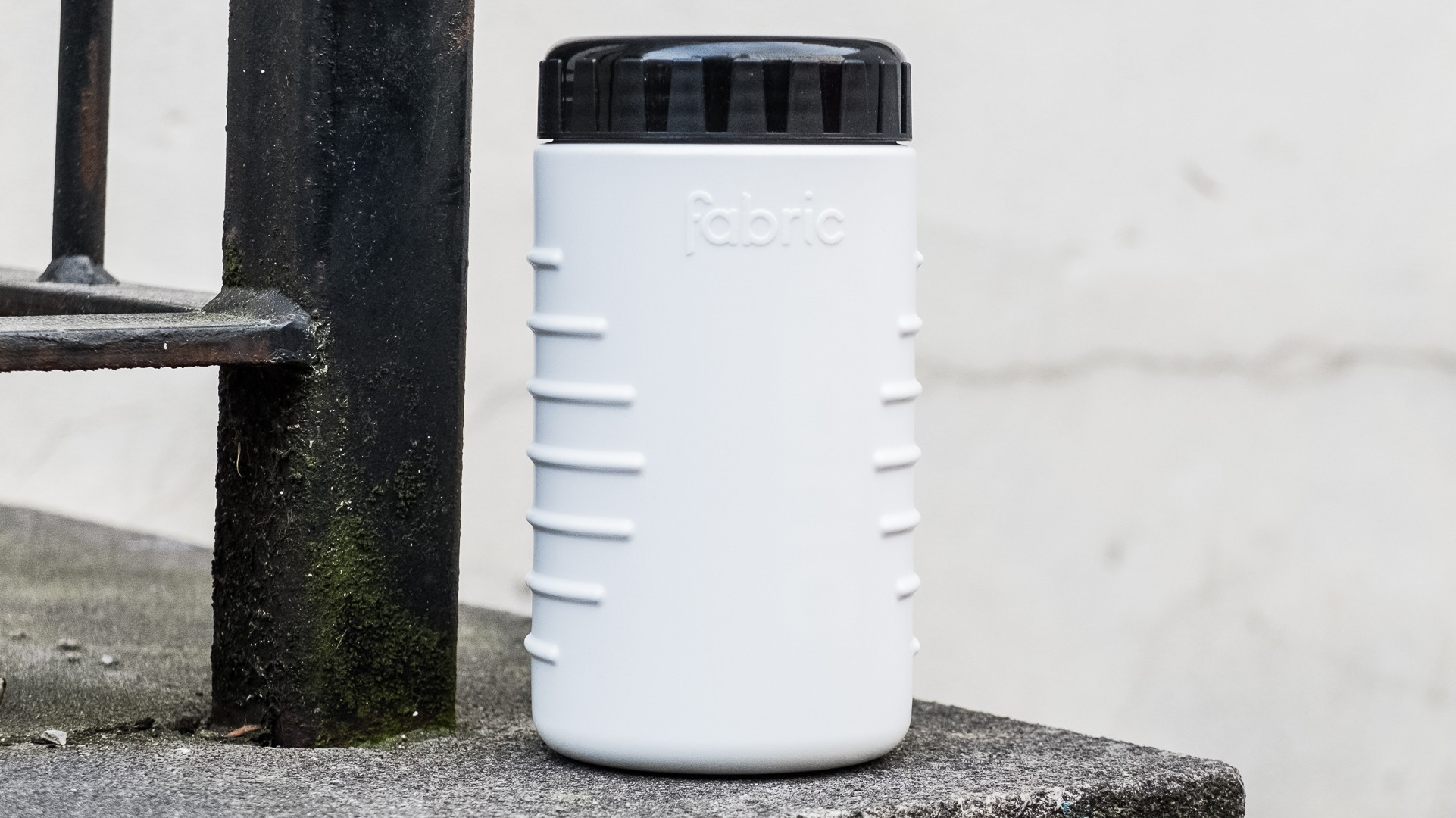 The container is water resistant, so you can splash through puddles to your heart's content